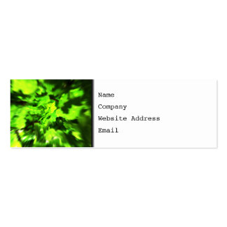 Bright Lime Green and Dark Green Abstract. Mini Business Card