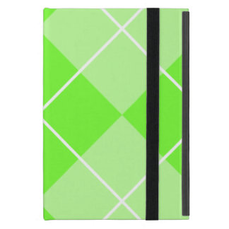 Bright Lime Green Argyle iPad Mini Cover