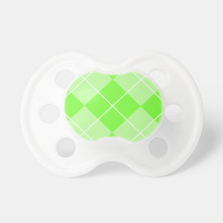 Bright Lime Green Argyle Pacifiers