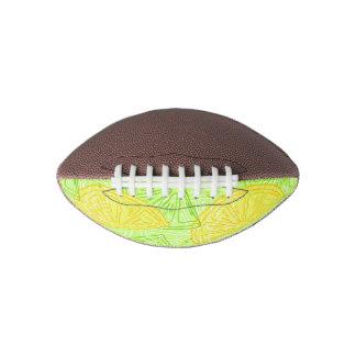 Bright lime green citrus lemons pattern football