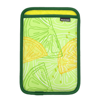 Bright lime green citrus lemons pattern iPad mini sleeve
