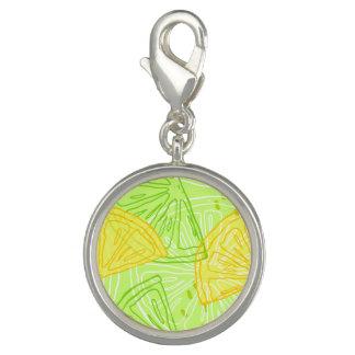 Bright lime green citrus lemons pattern photo charms