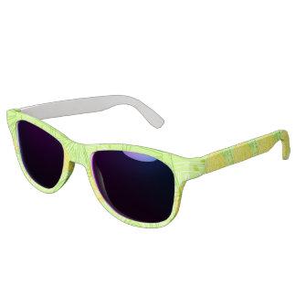 Bright lime green citrus lemons pattern sunglasses