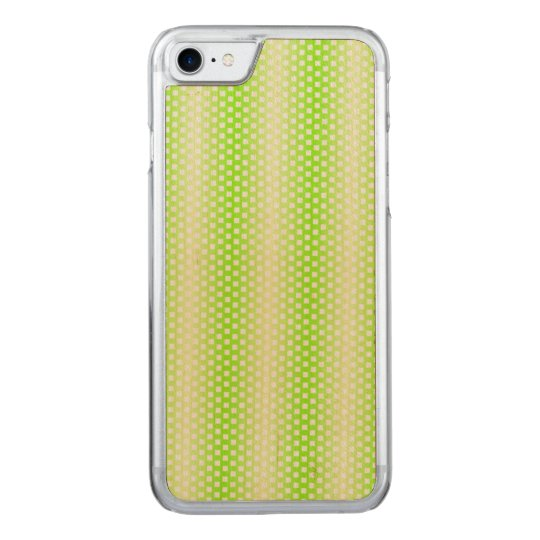 Bright Lime Green Pattern Carved iPhone 7 Case