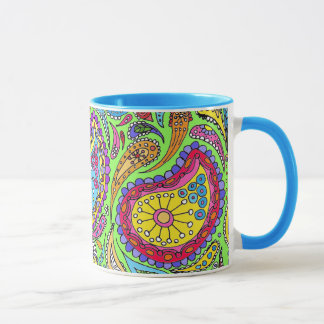 Bright Lime Paisley mug