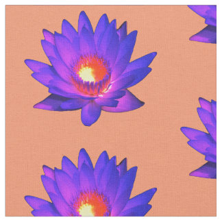 Bright Lotus Flower Fabric