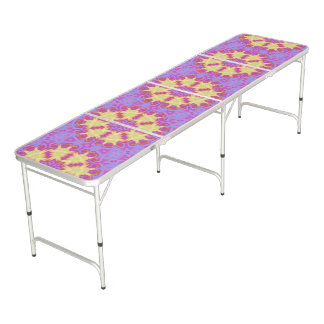 Bright Mandala Beer Pong Table