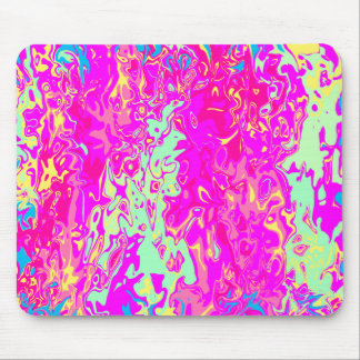 Bright Marbleized Colors Abstract Art on Mouspad Mouse Pad