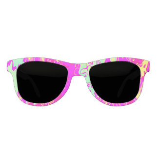 Bright Marbleized Colors Abstract Art Sunglasses