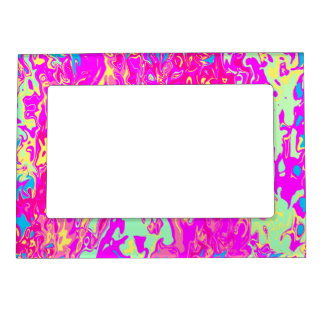 Bright Marbleized Colors Design Magnetic Frame