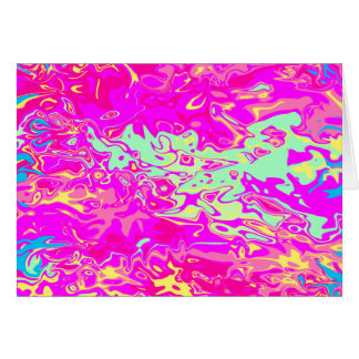 Bright Marbleized Colors on Blank-Inside Card