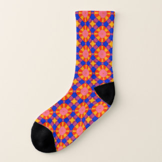 Bright Marker Colorful Mediterranean Tile Pattern Socks