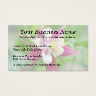 Bright McKana Type Columbine Business Card
