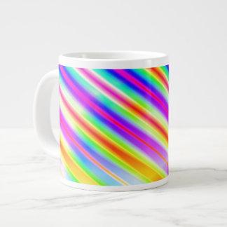 Bright Metallic Stripes Large Coffee Mug