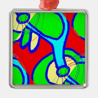 Bright Might 6 Silver-Colored Square Ornament