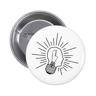 Bright Mind(black) 2 Inch Round Button