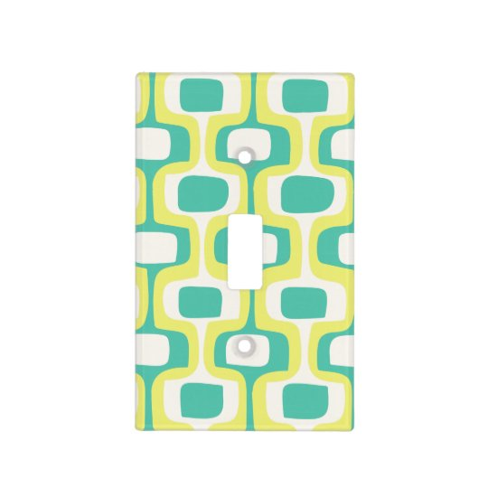 Bright Mint Chartreuse Mid-Century Modern Pattern Light Switch Cover