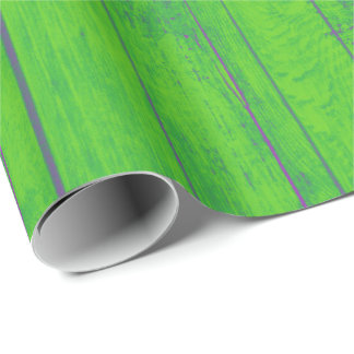 Bright Mint Green Bamboo Wood Emerald Meadow Wrapping Paper
