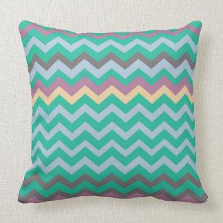 Bright Mix Of Chevron Colors Pillows