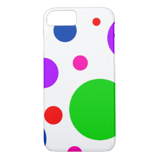 Bright Mod Colorful Polka Dot iPhone 7 Case