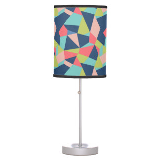 Bright, modern geometric shapes table lamps