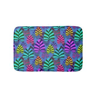 Bright Modern Leaf Pattern 437 Bath Mat