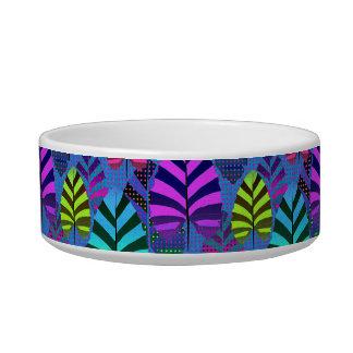 Bright Modern Leaf Pattern 437 Bowl