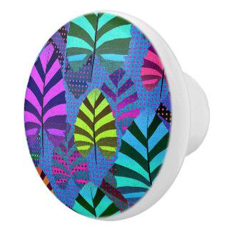 Bright Modern Leaf Pattern 437 Ceramic Knob