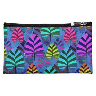 Bright Modern Leaf Pattern 437 Cosmetic Bag