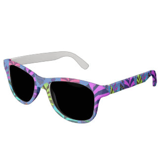 Bright Modern Leaf Pattern 437 Sunglasses