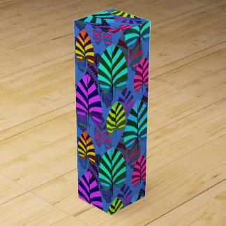 Bright Modern Leaf Pattern 437 Wine Gift Box