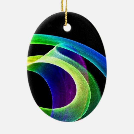 Bright Mood Ceramic Oval Ornament
