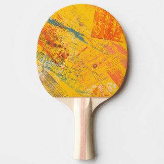 Bright mood. Ping-pong paddle