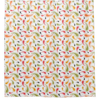 Bright Multi Color Paisley Pattern