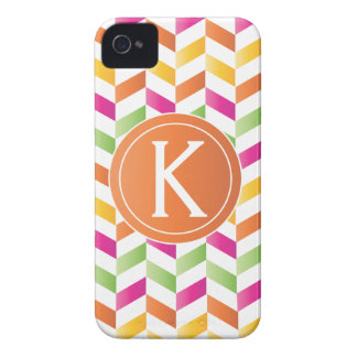 Bright Multi-Colored Herringbone Case-Mate iPhone 4 Cases