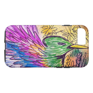Bright Multi-Coloured Hummingbird Phone Case