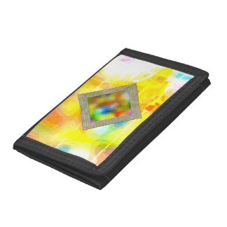 Bright Multicolored Waves Tri-fold Wallet