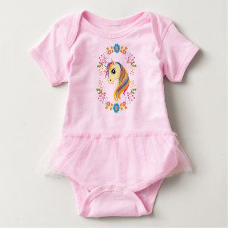 Bright n' Cheerful Unicorn Baby Tutu Bodysuit