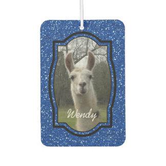 Bright N Sparkling Llama in Royal Blue Car Air Freshener