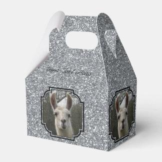 Bright N Sparkling Llama in Silver Favor Box