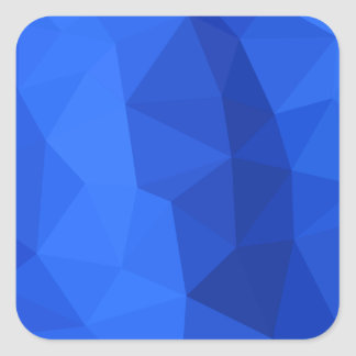 Bright Navy Blue Abstract Low Polygon Background Square Sticker
