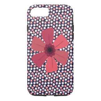 Bright Navy Ditsy Floral Case-Mate iPhone Case