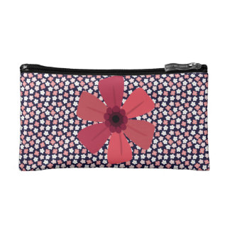 Bright Navy Ditsy Floral Cosmetic Bag