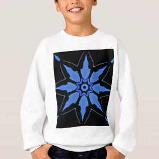 Bright Neon Blue Star Shaped Pattern Sweatshirt