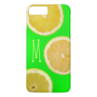 Bright Neon Fluorescent Green Yellow Lemons iPhone iPhone 7 Plus Case