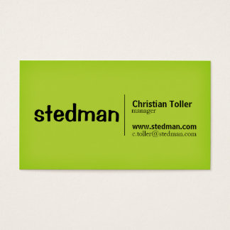 Bright Neon Green and Orange Business Card