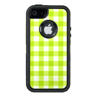Bright Neon Green Apple Gingham OtterBox Defender iPhone Case