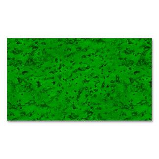 Bright Neon Green Cork Bark Look Wood Grain Magnetic Business Card