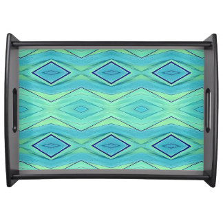 Bright Neon Pastels Tribal Pattern Serving Tray
