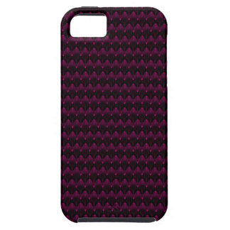 Bright Neon Pink Alien Head Pattern iPhone 5 Cases